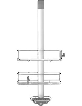 simplehuman Over Door Shower Caddy Stainless Steel/Anodised Aluminium