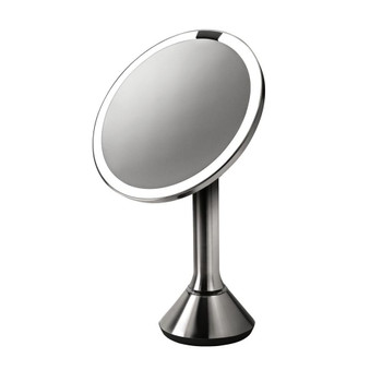simplehuman Sensor Mirror 20cm, Stainless Steel, Rechargeable