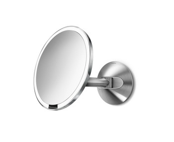 simplehuman Wall Mount Sensor Mirror 20cm, Stainless Steel, Hard-Wired