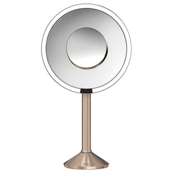 simplehuman Sensor Mirror Pro 20cm, Rose Gold Steel, Rechargeable