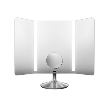 simplehuman Wide-View Sensor Mirror Pro 40.5cm, Stainless Steel, Rechargeable