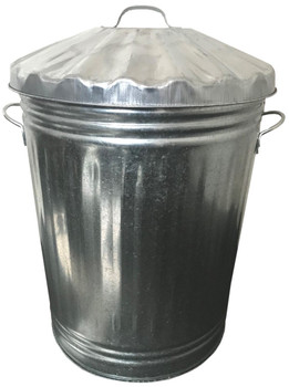 KT90DB - Classic 90 Litre Metal Dustbin - Ideal for gardens, workplaces, schools and more