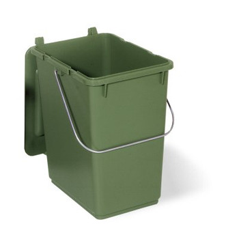 10 Litre Kitchen Waste Caddy Bin Green