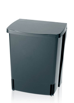 Brabantia Kitchen Cupboard Built-in Bin 10L Rectangular - Black