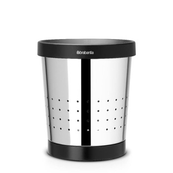 Brabantia Waste Paper Bin Conical 5 litre - Brilliant Steel - Brabantia 364280