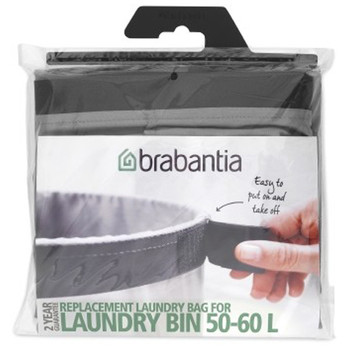 Brabantia Laundry Bin Bag - Grey 60 litre