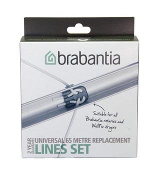 Brabantia Replacement Line 65m including Connectors - Grey
