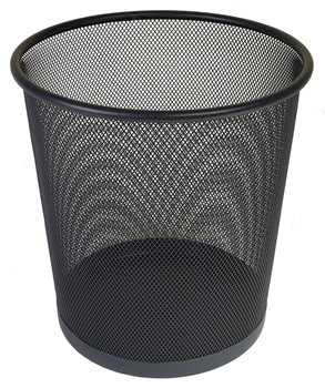Osco Black Wiremesh - Round Bin 35 cm High - 18.3L