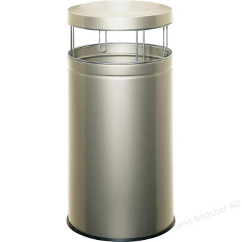 Wesco Ash Bin 50L - New Silver