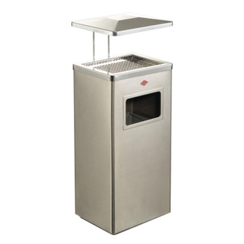 Wesco Ash Bin 19L with Roof - Stainless Steel Matt