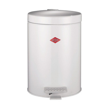 Wesco Cosmetic Pedal Bin 5L with Metal Inner - White