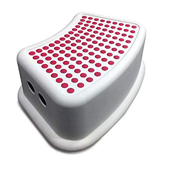 Addis Bathroom Booster Step stool Red / White