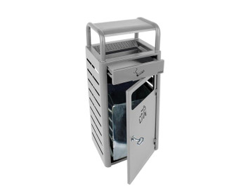 Probbax Stand Alone Ash/Trash Container (With 2,3 + 20L Liners) - Silver