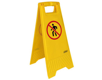 """Probbax Floor Sign """"No Trespassing"""" (Without Text) - Yellow"""