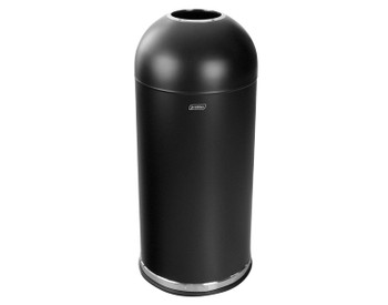 Probbax Bullet Bin 52L  - 13 3/4 Gal - Dome Top - Without Handle - Powder Coated - Black