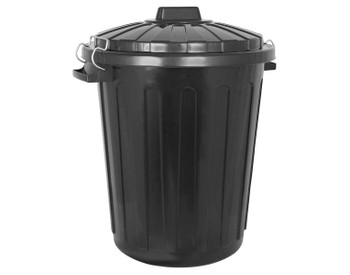 Probbax Round Container 70L With Lid - Black