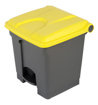 Probbax Step-On Container 30L - Grey (Body)/Yellow (Lid)