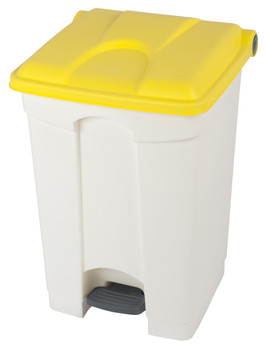 Probbax Step-On Container 30L - White (Body)/Yellow (Lid)