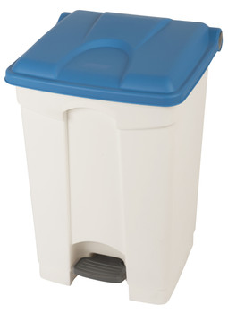 Probbax Step-On Container 45L - White (Body)/Blue (Lid)
