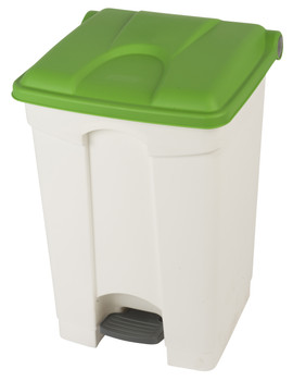 Probbax Step-On Container 45L - White (Body)/Green (Lid)