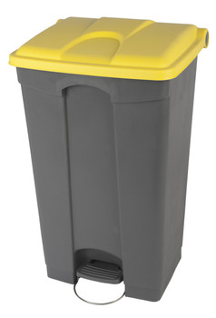 Probbax Step-On Container 90L - Grey (Body)/Yellow (Lid)