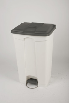 Probbax Step-On Container 90L - White (Body)/Grey (Lid)