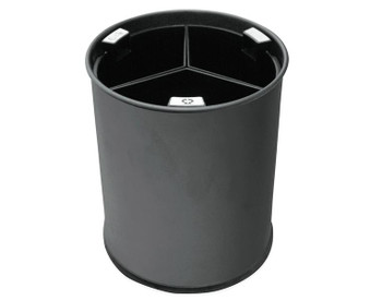 Probbax Waste Bin 13L Black With 3 Removable Compartments (All Black) - Black