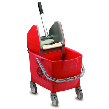 Rubbermaid Combo Bravo (25 L Bucket + Wringer) - Red