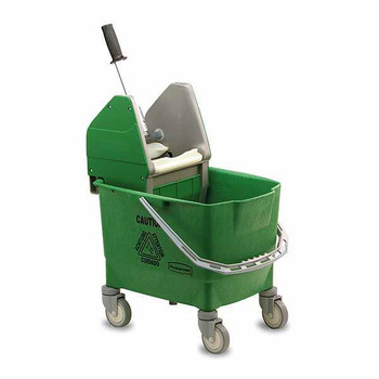 Rubbermaid Combo Bravo (25 L Bucket + Wringer) - Green - Rubbermaid R014154