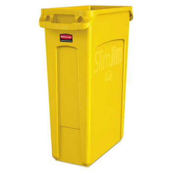 Rubbermaid Slim Jim With Venting Channels 87 L - Yellow