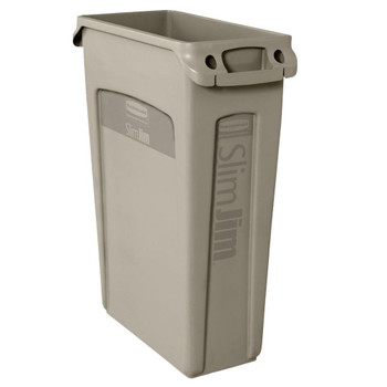 Rubbermaid Slim Jim With Venting Channels 87 L - Beige