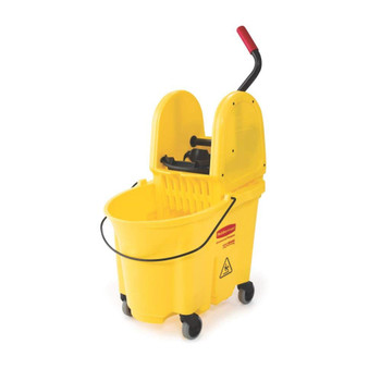 Rubbermaid Wavebrake Down Press Combo - Yellow
