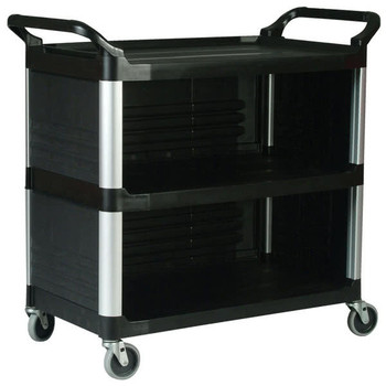 Rubbermaid X-Tra Cart Closed 3 Sides - Black