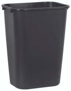 Rubbermaid Rectangular Wastebasket 39 L - Black
