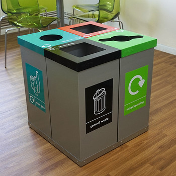 Wybone 60 Litre Box Cycle Cube Recycling Unit Coloured Bodies