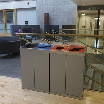 Wybone C-Bin Quad Recycling Unit With Mixed Bodies - 320L