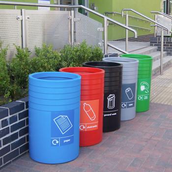 Wybone Cot/3 Open Top Circular Litter/Recycling Bin
