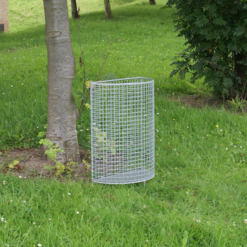 Wybone Hr20 Half Round Open Top Litter Bin Basket Galvanised