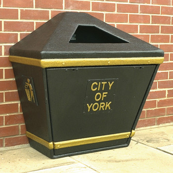 Wybone Lbv/11 Semi-Open Slim Profile Litter Bin Textured