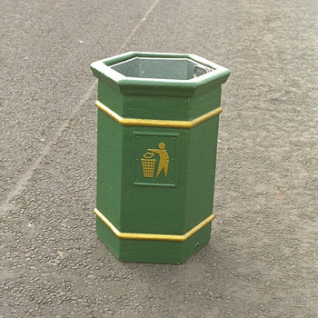 Wybone Lbv/14 Hexagonal Open Top Litter Bin Victoriana