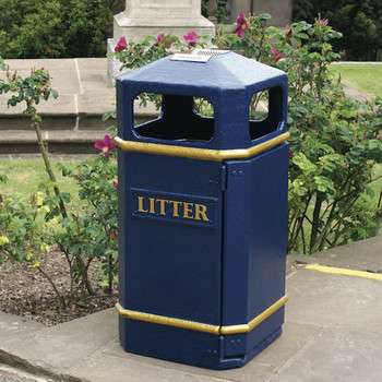 Wybone Lbv/17 Closed Top Litter Bin Victoriana
