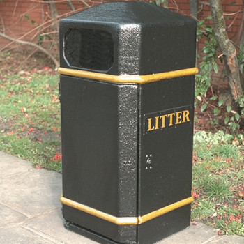 Wybone Lbv/17 Closed Top Litter Bin Textured