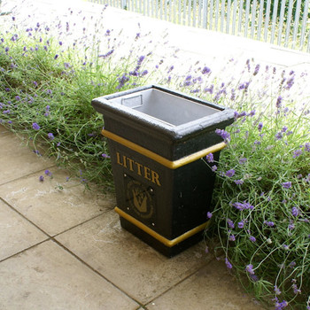 Wybone Lbv/1 Tapered Open Top Litter Bin Ground Fixing