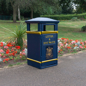 Wybone Lbv/20 Closed Top Litter Bin Victoriana