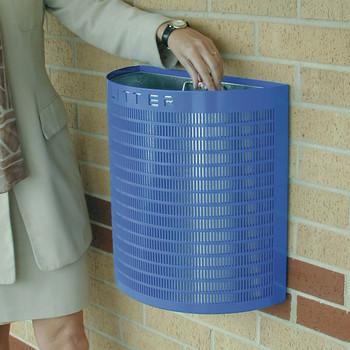 Wybone Pwf Semi-Circular Open Top Litter Bin Wall Fixing