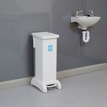 Wybone 28 Litre Hybrid, Pedal Operated Sackholder With A Removable Plastisol Body, Integrated Castors And Hands Free Frame