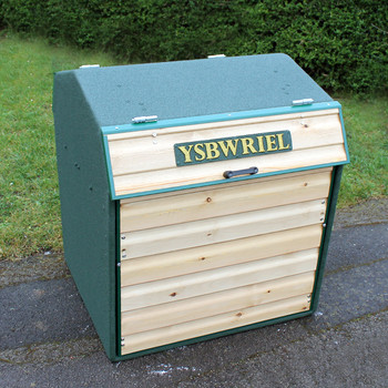 Wybone Rla/6Mar Timber Front Closed Top Litter Bin Smooth