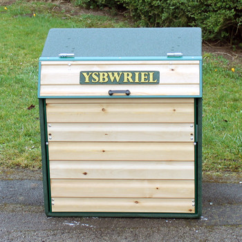 Wybone Rla/6Mar Timber Front Closed Top Litter Bin Textured