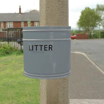 Wybone Rpg/25 Circular Post Mountable Litter Bin