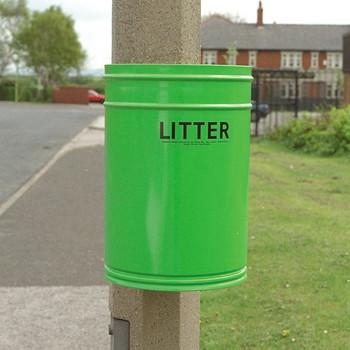 Wybone Rpg/50 Circular Post Mountable Litter Bin